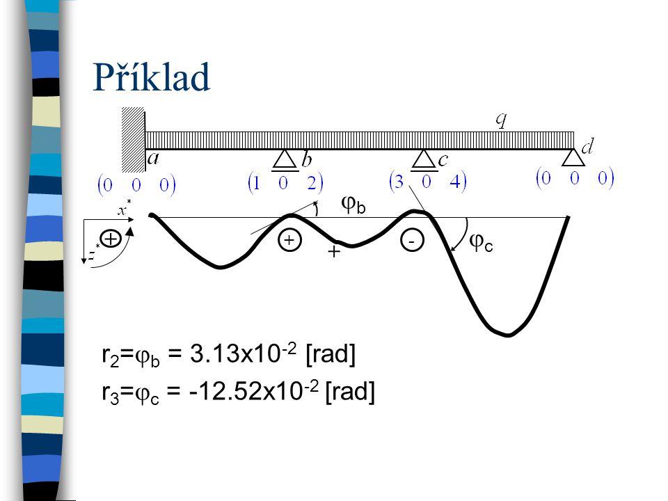 Příklad jb jc r2=jb = 3.13x10-2 [rad] r3=jc = -12.52x10-2 [rad] + + +